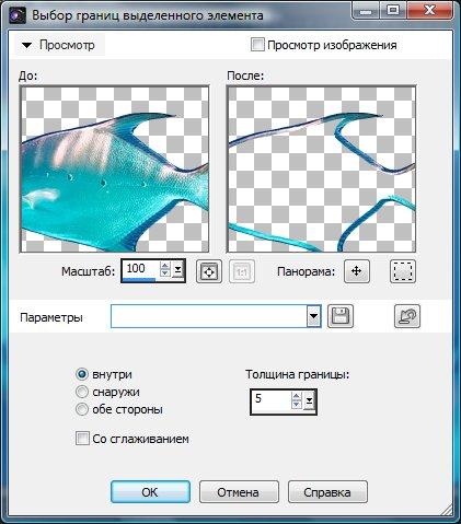 Определение параметров краев выделения Corel PaintShop Pro X4 автор Шитов Виктор Николаевич