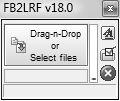 Рабочее окно конвертера FB2LRF