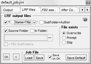 Настройка параметров входного и выходного файлов